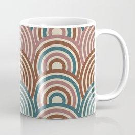 Retro Rainbow in brown, blue and mauve colors Coffee Mug