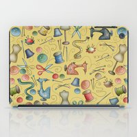 sewing iPad Cases featuring Sewing tools by Catru