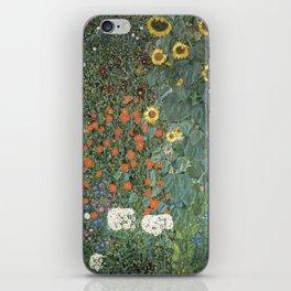 Gustav Klimt - Farm Garden with Sunflowers iPhone Skin