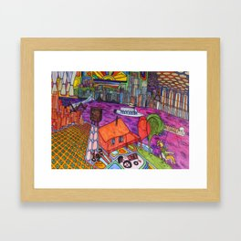 """One of my """"Old Man River"""" dreams (My dreams of America, part4) Framed Art Print"""