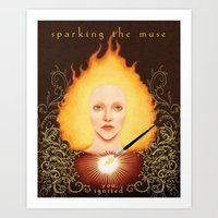 Sparking The Muse Logo Art Print