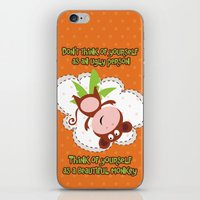 monkey iPhone & iPod Skins featuring Monkey by Arevik Martirosyan
