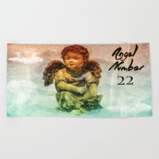 Angel Number 22 Beach Towel