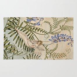 """Fairy Resting Among Flowers"" by Amelia Jane Murray Rug"