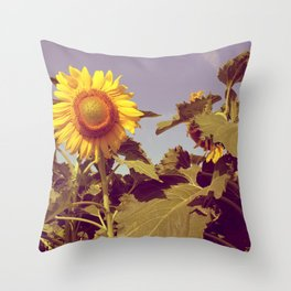 The happy flower! Throw Pillow