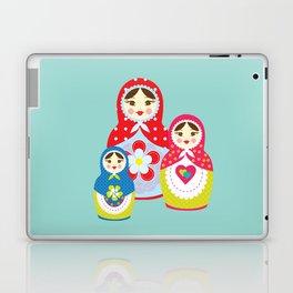 Turquoise babushka , matryoshka , russian doll , nursery decor , children gift, birthday gift Laptop & iPad Skin