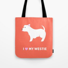 Westie Illustration Tote Bag
