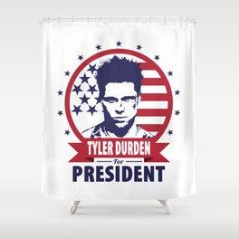 Tyler Durden For President Shower Curtain