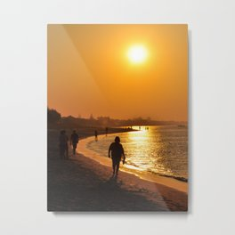 relaxing at sunset Metal Print