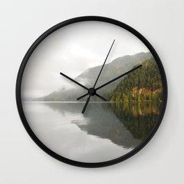 Lake Crescent reflection Wall Clock