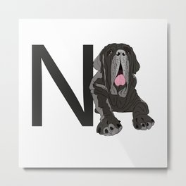 N is for Neapolitan Mastiff Metal Print