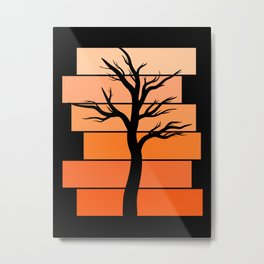 Tree Silhouette (Desert Sky) Metal Print