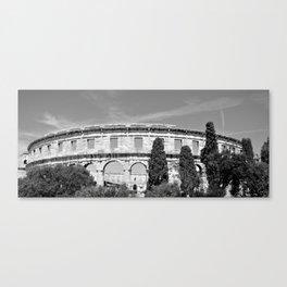 arena amphitheatre pula croatia ancient black white Canvas Print