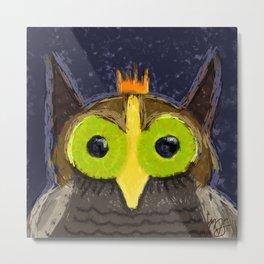 The Kingly Owl - Digital Painting Metal Print