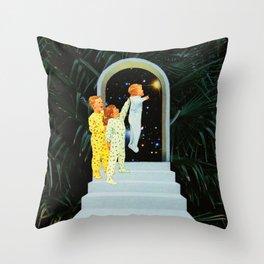Night in the garden Throw Pillow