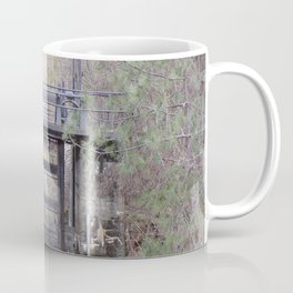 Antique Spillway, Old River Spillway in Trees and Bushes Coffee Mug