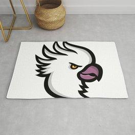 Crested Cockatoo Head Mascot Rug