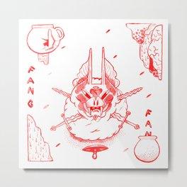 BAT FANG  Metal Print