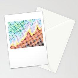 Pixelated Nebula Red Stationery Cards