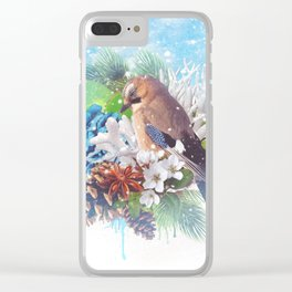Floral Winter Magic Clear iPhone Case