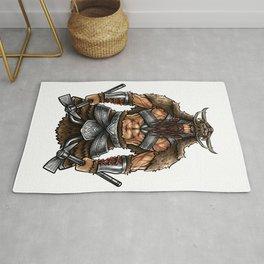 Norseman Berserker | Viking Warrior Valhalla Odin Rug