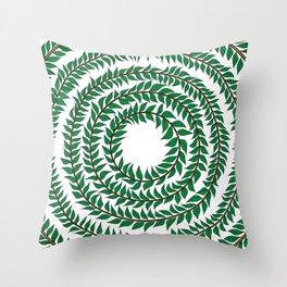 Merry go round (green) Throw Pillow