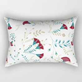 Egyptian Papyrus Flowers Rectangular Pillow