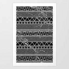 tribal marble Art Print