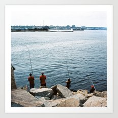 Fishers on Fort Phoenix Art Print