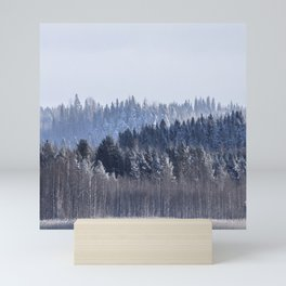 Blue shades in cold winter morning Mini Art Print