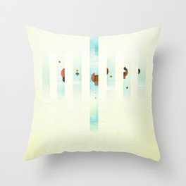Fence: Facebook Shapes & Statuses Throw Pillow