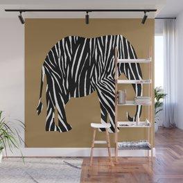 Zebra Elephant Safari Wall Mural