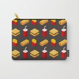 Isometric junk food pattern Carry-All Pouch