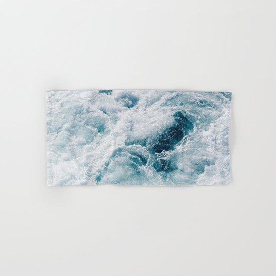 sea - midnight blue storm Hand & Bath Towel