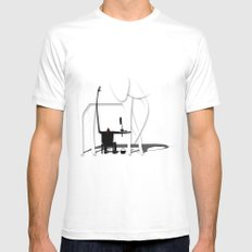 Elephant's trip White MEDIUM Mens Fitted Tee