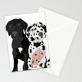 Great Dane Puppy Dogs: Olive & Oden Stationery Cards