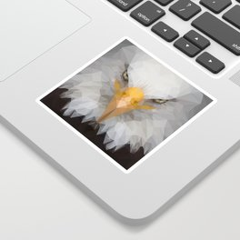 Low Poly Eagle Portrait Sticker