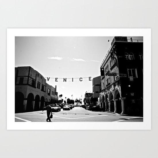 venice beach sign Art Print