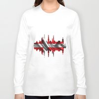 copenhagen Long Sleeve T-shirts featuring Copenhagen city silhouette by South43