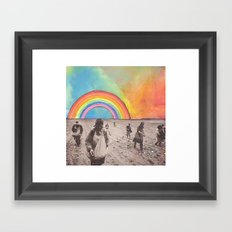 sowing Framed Art Print