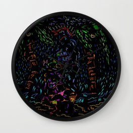 That One Stormy Night In Coconut Grove Miami  Wall Clock