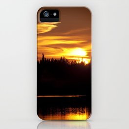 Northern Sunset 001 iPhone Case