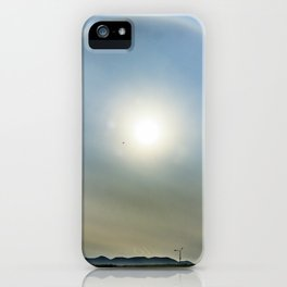 Plane in the Sun circle iPhone Case