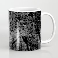 minneapolis Mugs featuring minneapolis map by Line Line Lines