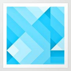 Turquoise blue  Gradient Art Print