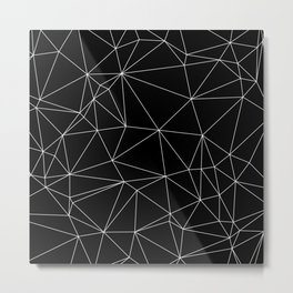 Geometric Black and White Minimalist Pattern Metal Print