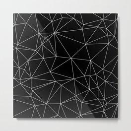 Geometric Black and White Minimalist Pattern Metal Print