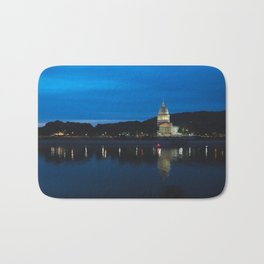 Charleston West Virginia Capitol at Blue Hour Bath Mat