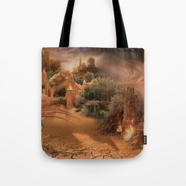 Desert paradise on the edge of Hell - Sandstorm Tote Bag