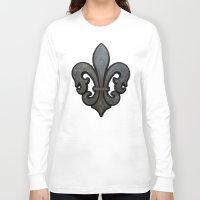 fleur de lis Long Sleeve T-shirts featuring Fleur de Lis by Fischer Fine Arts